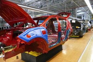 Výrobná linka závodu Kia Motors Slovakia v Žiline.