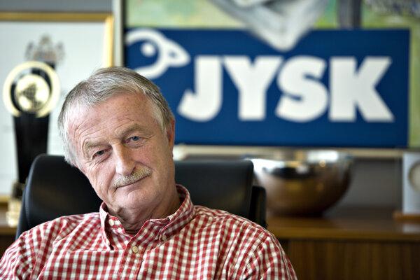 Na snímke z roku 2012 Lars Larsen, zakladateľ nábytkárskeho reťazca Jysk. Zomrel 19. augusta 2019 vo veku 71 rokov.