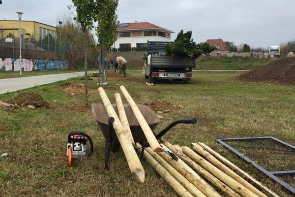 V parku pohybu pribudnú stromy aj mobiliár.