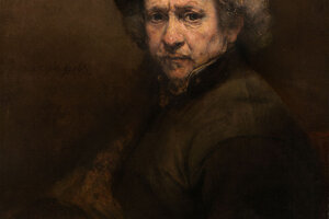 Autoportért Rembrandta van Rijna. Rembrandt využíval hnedé farbivo umbra pre bohaté hnedé odtiene. Umbra as využívala už 40-tisíc rokov pred našim letopočtom.