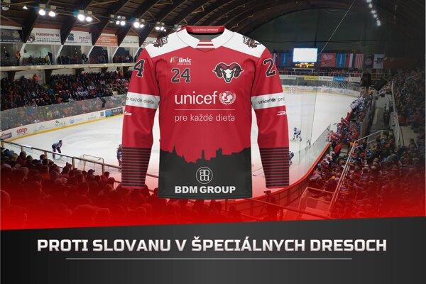 Hokejisti B. Bystrice nastúpia v špeciálnych dresoch