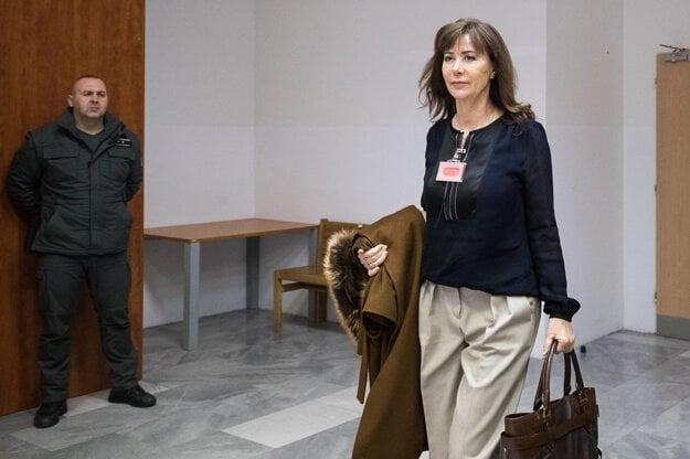 Oľga Valková na súde.