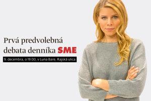 Predvolebná debata SME