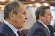 Minister zahraničných vecí Ruskej federácie Sergej Viktorovič Lavrov a predseda Andrej Danko.