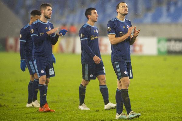 Futbalisti ŠK Slovan Bratislava.