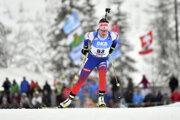 Paulína Fialková počas rýchlostných pretekov na 7,5 km na pretekoch Svetového pohára v rakúskom Hochfilzene.