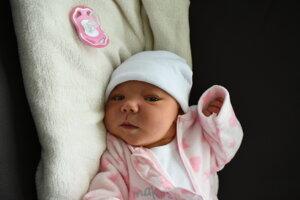 Sofia Sabršulová (4150 g, 52 cm) sa narodila 24. novembra Michaele a Pavlovi z Vaďoviec.