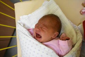 Ema Hulínová (3220 g, 50 cm) sa narodila 9. decembra Michale a Dominikovi zo Žiliny.