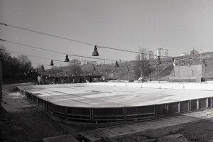 Rok 1972. Na tomto mieste je dnes Slovalco Aréna. Archívne foto.
