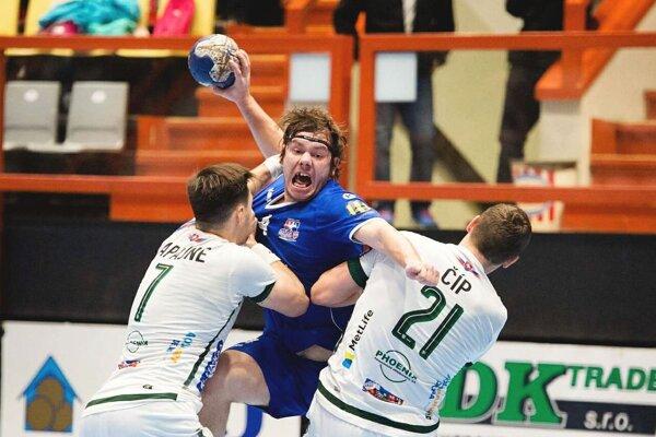 Považskobystričan Vallo (v modrom) dal Prešovu tri góly.