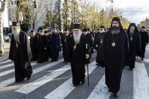 Pochod cirkevných predstaviteľov.