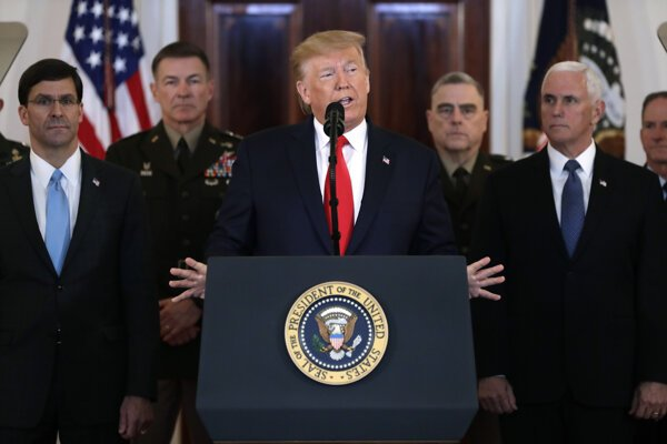 Pri iránskom útoku nikto neprišiel o život, potvrdil Trump.