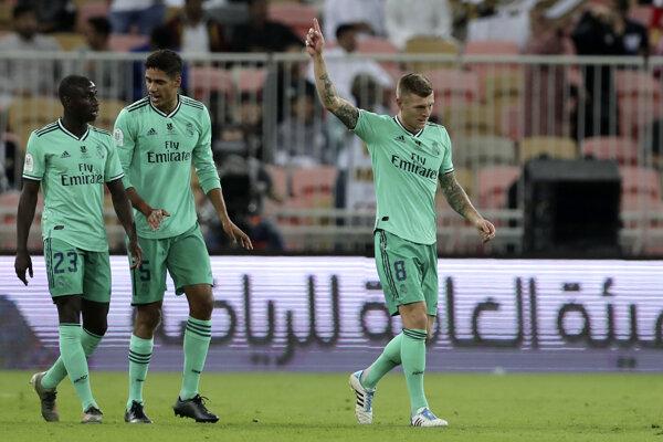 Futbalisti Realu Madrid.