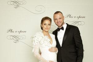 Marián Gáborík, slovenský hokejový reprezentant, pôsobiaci v NHL s manželkou Ivanou