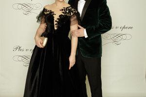Vladimír Kobielsky, herec s manželkou Alenou