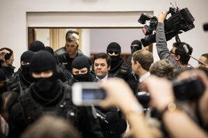 Obžalovaný Marian Kočner na súde.