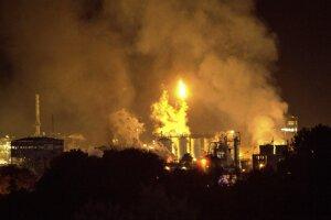 Výbuch továrne v Španielsku.