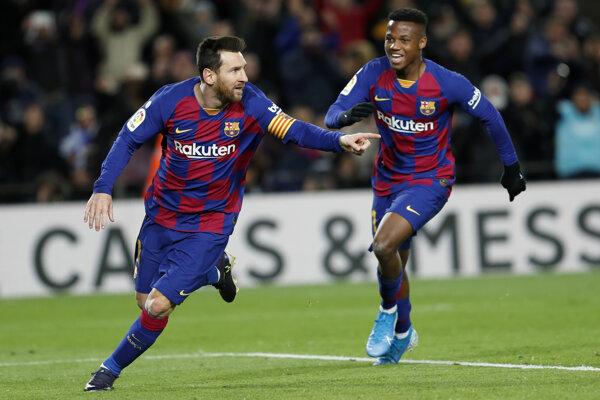 Lionel Messi a Ansu Fati.