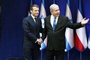 Stretnutie Emmaanuela Macrona s Benjaminom Netanjahuom bolo jedným z programu návštevy francúzskeho prezidenta v Izraeli, ktorá sa koná pri príležitosti 5. svetového fóra o holokauste.