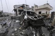 Vojnou zničená Sýria.