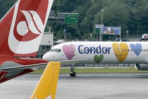 Lietadlo leteckej spoločnosti Condor.