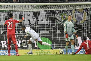 Momentka zo zápasu Mönchengladbach - Mainz.
