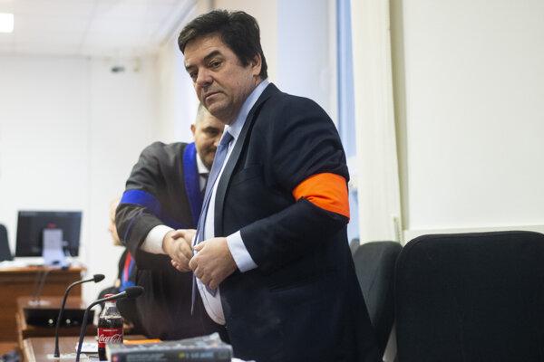Obžalovaný Marian Kočner a jeho advokát Michal Mandzák.
