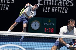 Filipovi Poláškovi robilo v semifinále Australian Open najväčšie problémy ostré slnko.