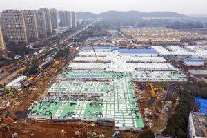 Pohľad na nemocnicu vo Wu-chene.