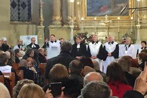 Prišli vysokí predstavitelia všetkých cirkví.