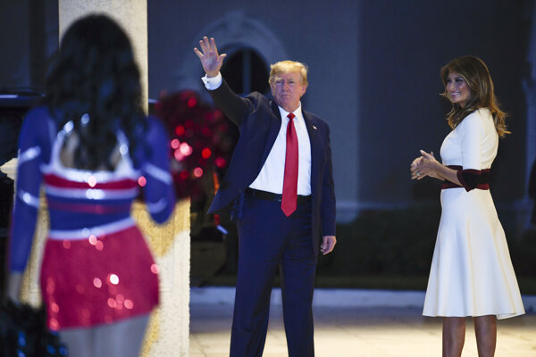 Donalad Trump s manželkou Melaniou.