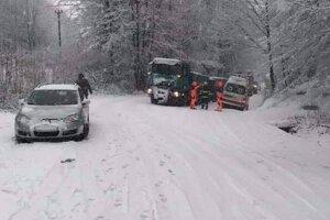 Sneženie v Banskobystrickom kraji.