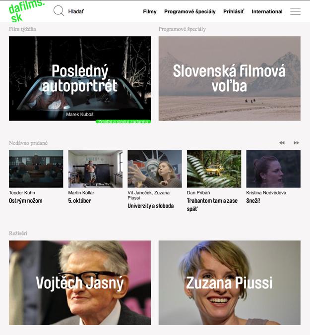 Streamovací portál DAFilms.sk