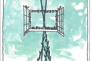 Návrh pamätníka, ktorý nakreslil maliar Fero Guldan.