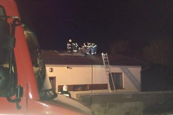 Požiar domu v Lietave