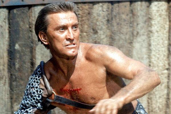 Kirk Douglas ako Spartacus.