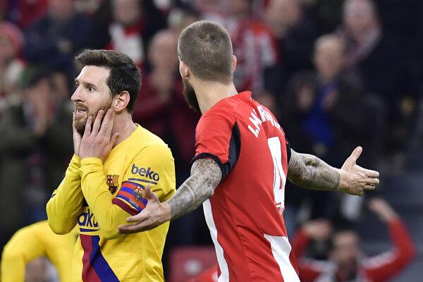 Lionel Messi po inkasovanom góle.