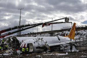 Americkí odborníci preskúmali trosky lietadla spoločnosti Pegasus Airlines Boeing 737.