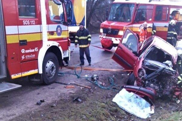 Zásah pri dopravnej nehode.