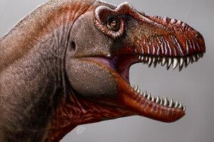 Umelecká predstava nového druhu tyranosaura.