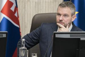 Peter Pellegrini na rokovaní vlády.
