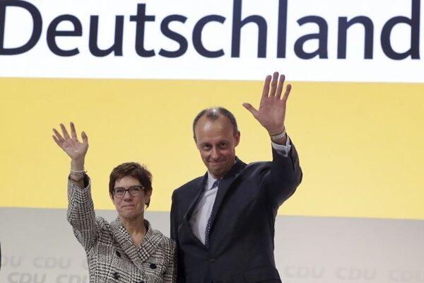 Odstupujúca líderka CDU Annegret Krampová-Karrenbauerová a jej možný nástupca Friedrich Merz.