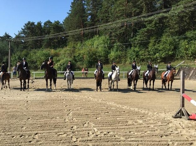 Jazdecký klub Mitani ukázal deťom drezúru koní a jazdu podľa hudby.