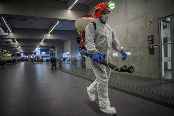 Dezinfekčné opatrenia v Budapešti.