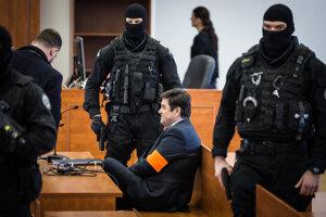 Marian Kočner na Špecializovanom trestnom súde 27. februára 2020 pred rozsudkom za falšovanie zmeniek TV Markíza.
