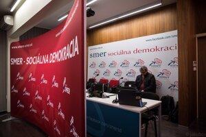 Voľby 2020: Predstavitelia strany Smer by mali prísť až niekedy okolo desiatej hodiny.