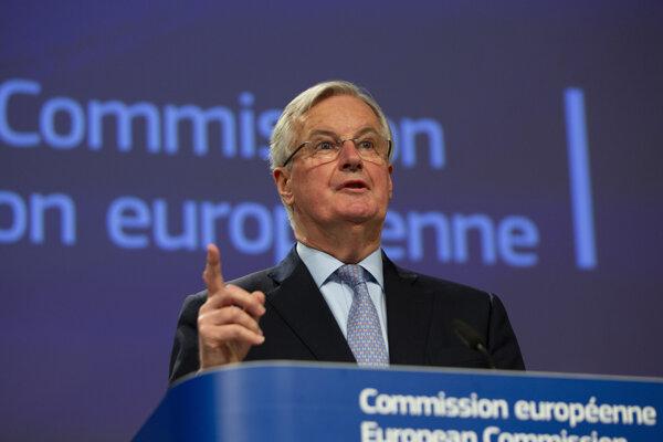 Hlavný európsky vyjednávač Michel Barnier.