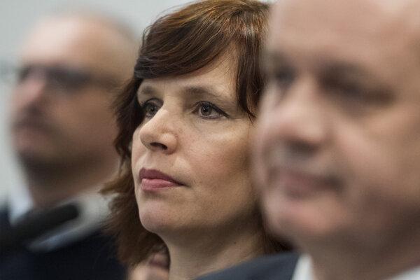 Voľby 2020: Veronika Remišová počas tlačovej konferencie po predsedníctve strany.