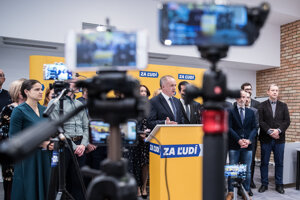 Voľby 2020: Tlačová konferencia strany Za ľudí po skončení predsedníctva.