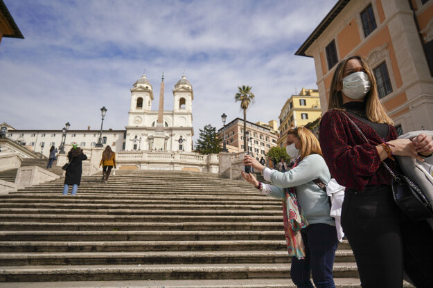 Španielske schody v Ríme.
